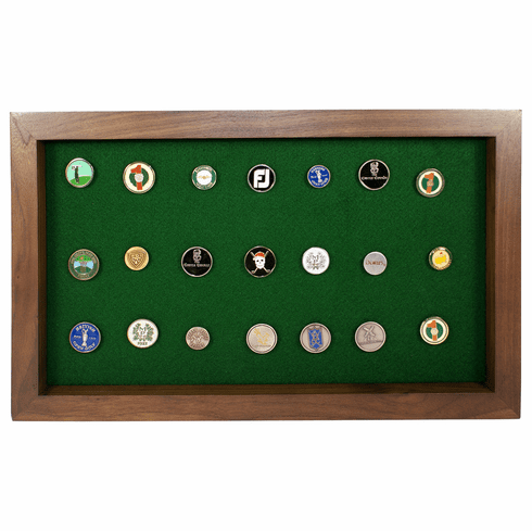 40 Golf Ball Marker Display - Walnut
