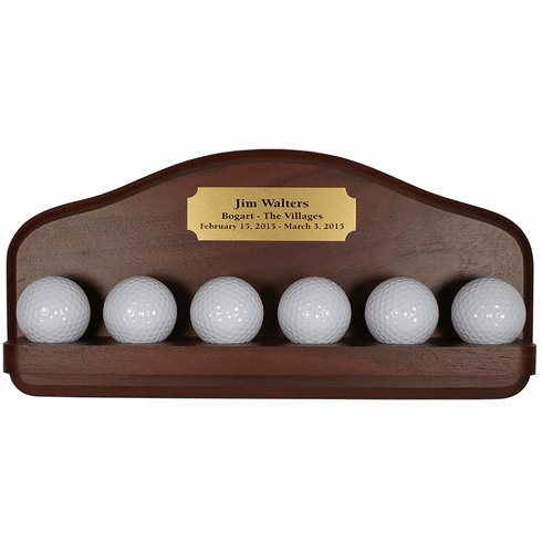 6 Golf Ball Display