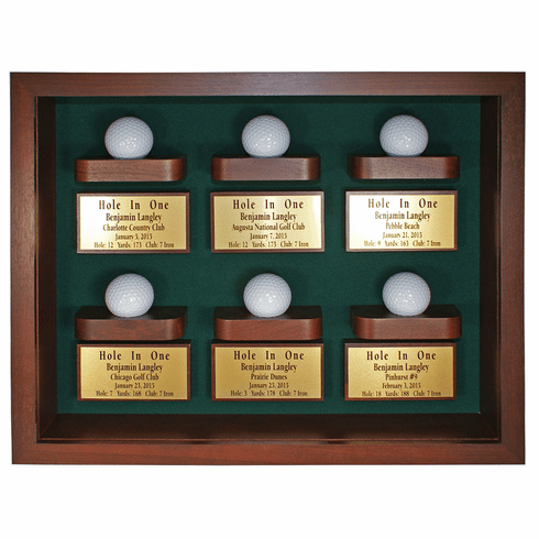 6 Holes in One Shadow Box  Display