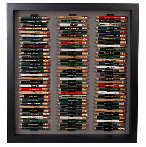 96 Golf Pencil Display Case - Black