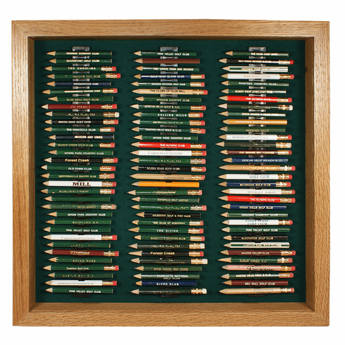 96 Golf Pencil Display Case - Oak