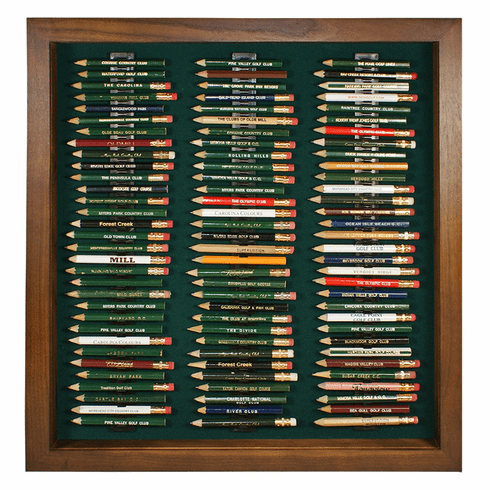 96 Golf Pencil Display Case - Walnut