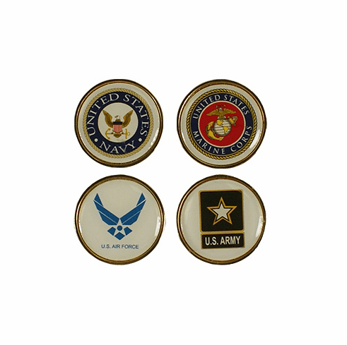 Armed Forces Golf Ball Markers