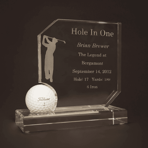 Crystal Hole In One Award
