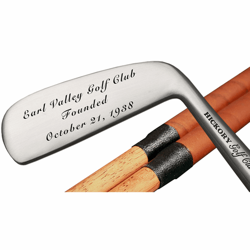 Engraved Classic Hickory Blade Putter