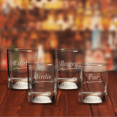Fore Double Old Fashioned Golf Score Glasses