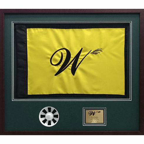 Framed Hole In One Pin Flag Shadow Box