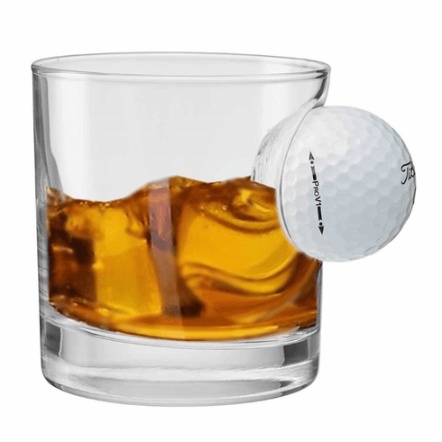 Golf Ball Rocks Glass