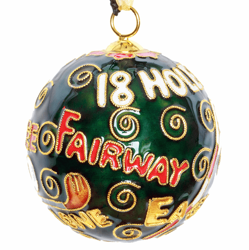 Golf Sayings Cloisonne Ornament