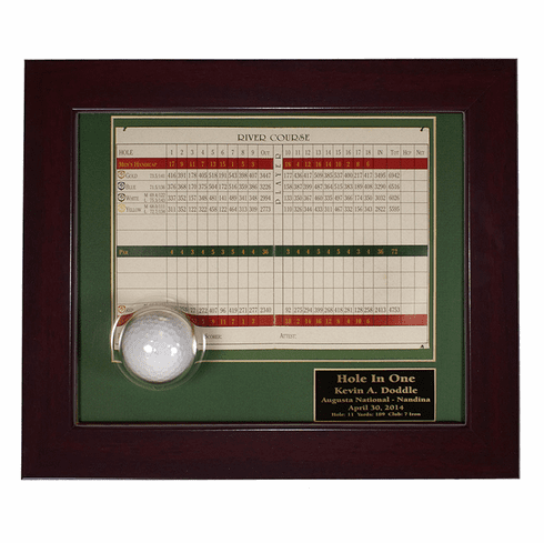 Hole-In-One Ball and Scorecard Display Frame