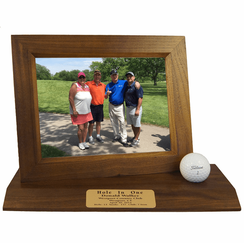 Hole-In-One Desktop Photo Display