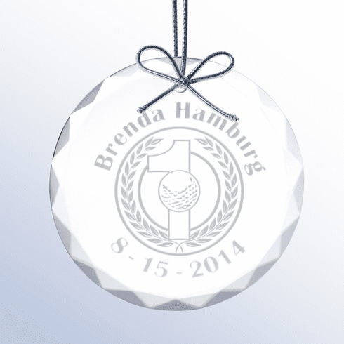 Hole-In-One Glass Holiday Ornament