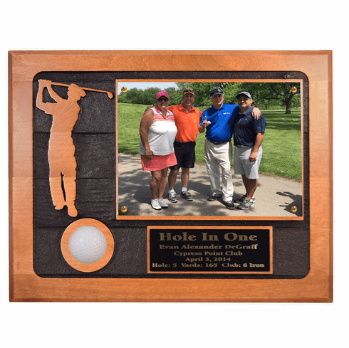 Hole-In-One Sandcarved Photo Plaque