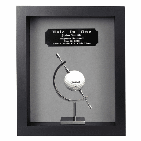 Hole-In-One Shadow Box with Caliper-Black