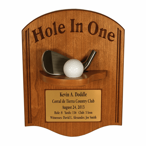 Hole-In-One with Iron Plaque