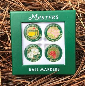 Masters Ball Markers, Divot Tools & Bag Tags