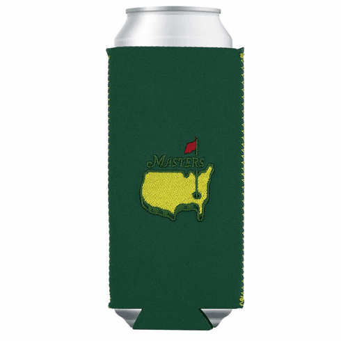 Masters Green Slim Can Cooler