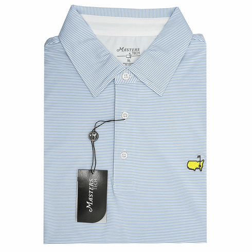Masters Sky Blue Striped Tech Collection Shirt