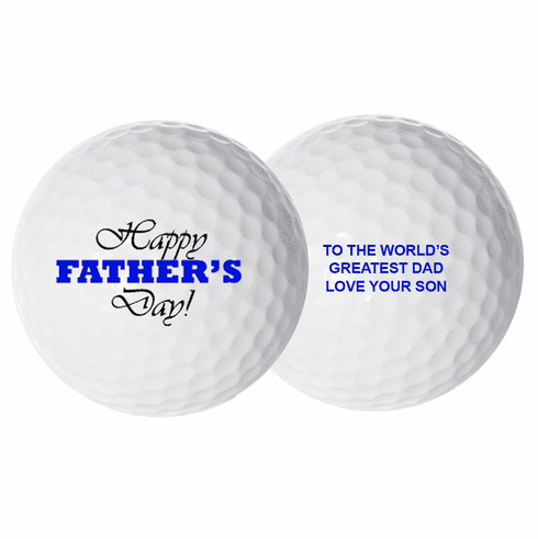 Personalized Father's Day Golf Balls