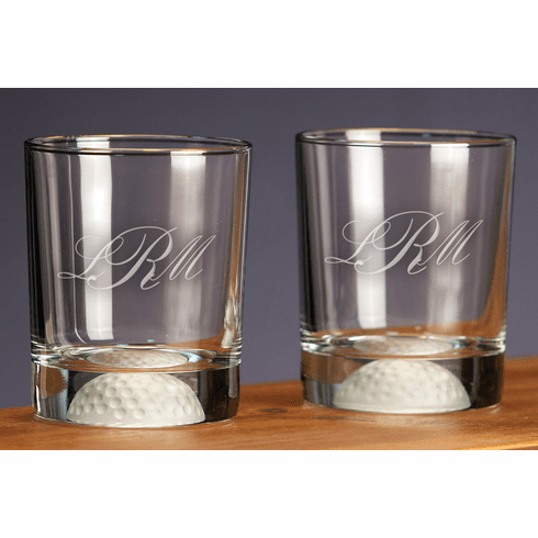 Personalized Fore Double Old Fashioned Bar Glasses