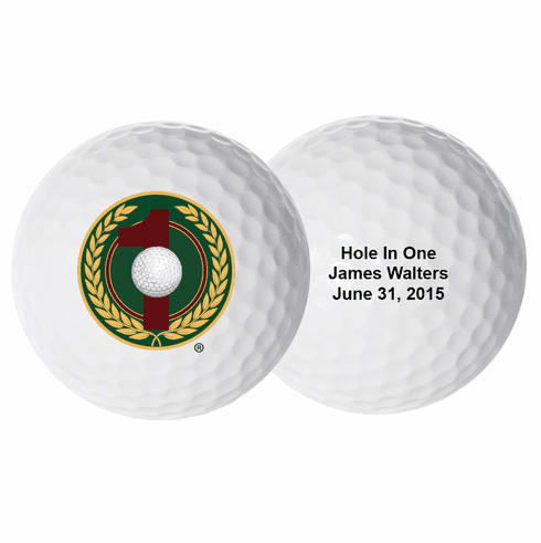 Personalized Hole-In-One Golf Balls