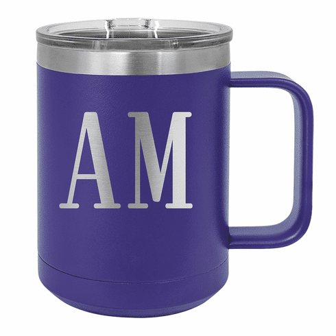Personalized Stainless Steel 15oz Colored Coffee Mug