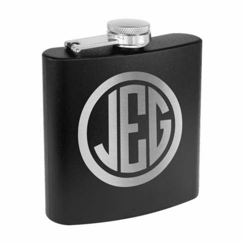 Personalized Stainless Steel 6oz Colored Flask