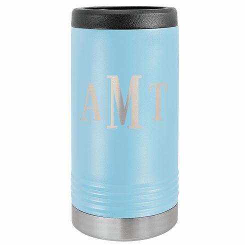 Personalized Stainless Steel Colored Slim Beverage Holder