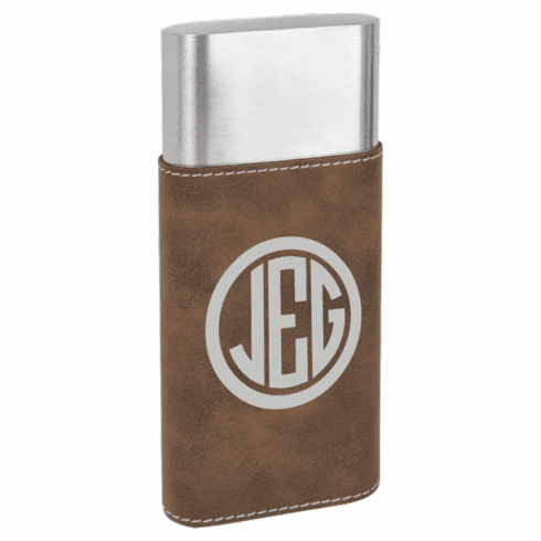 Personalized Wrapped Cigar Case with Cutter