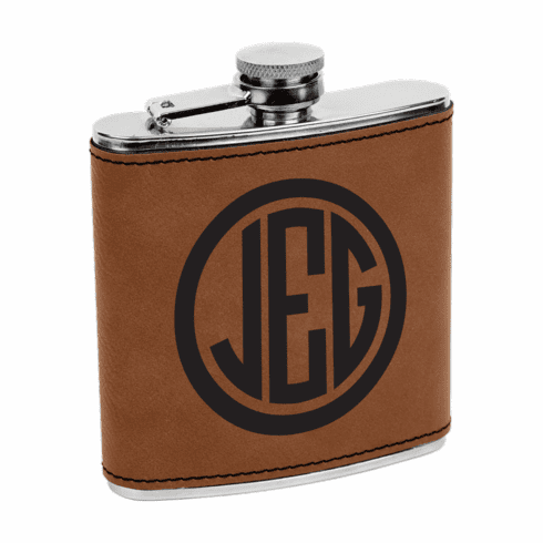Personalized Wrapped Stainless Steel 6oz Colored Flask