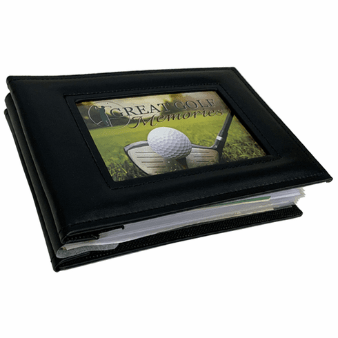 Small Golf Scorecard and Photo Album - Black