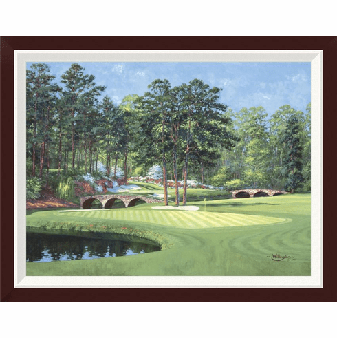 """""""The 11th At Augusta-White Dogwood"""" Framed Canvas"""