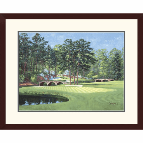 The 11th At Augusta White Dogwood Framed Print