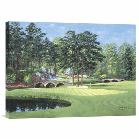 """""""The 11th At Augusta-White Dogwood"""" Wrapped Canvas"""