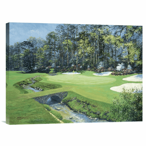 """""""The 13th At Augusta-Azalea"""" Wrapped Canvas"""