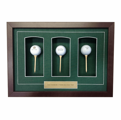 Three Ball and Tee Shadow Box