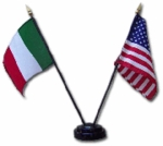 American and Italian Flag Set