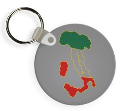 Brass Italy Boot Key Chain