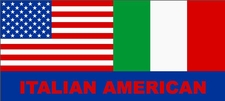 Italian American Flag Bumper Sticker  Decal