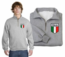 Italian Flag Patch 1/4 Zip Pullover