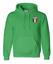 Italian Flag Patch Flag Hooded Sweatshirt