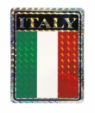 Reflective Italia Flag  Decal