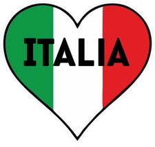 Italia Heart & Flag Decal