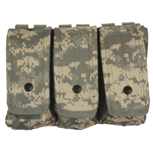 AR-15/AK-47 Triple Mag Pouch Camouflage