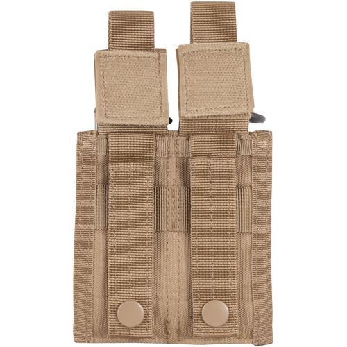 Pistol Quick Deploy Dual Mag Pouch Coyote