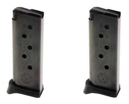Ruger Lcp 380 ACP 6 Round 2-Pack W/Extension