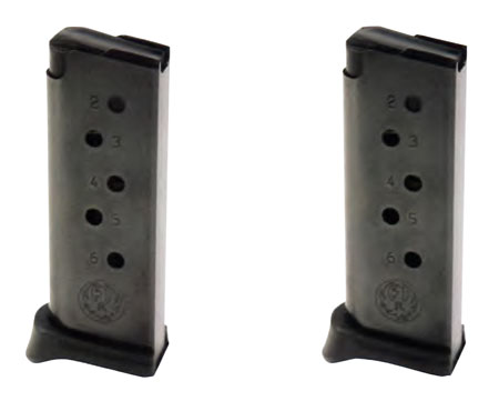 Ruger LCP .380 ACP 6 Round 2-Pack W/Extension