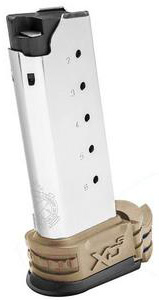 Springfield Armory XD-S .45 ACP 6-Rd Magazine with FDE Extension
