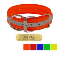 shop 1-1/2 in. Beaded Reflective D-End Dog Collar