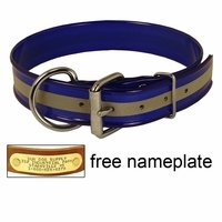 shop 1-1/2 in. Beaded Reflective Dee-End Dog Collar